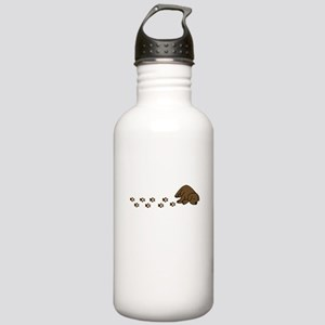 Muddy Chocolate Lab Stainless Water Bottle 1.0L