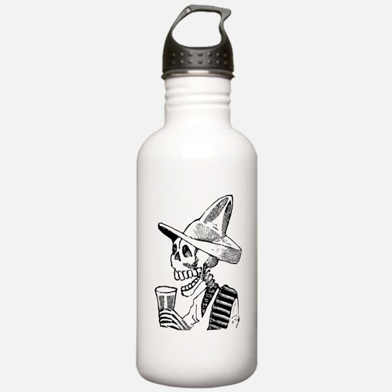 Calavera con Cerveza Water Bottle