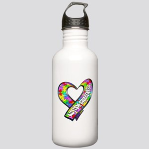 Puzzle Ribbon Heart Stainless Water Bottle 1.0L