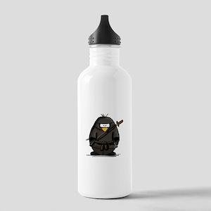 Martial Arts ninja penguin Stainless Water Bottle