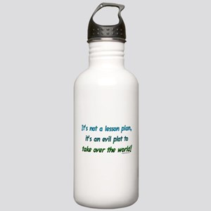 Evil lesson plan, teacher gift Water Bottle 1 Stai