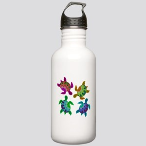 Multi Painted Turtles Stainless Water Bottle 1.0L