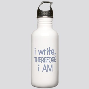I Write, Therefore.... Stainless Water Bottle 1.0L