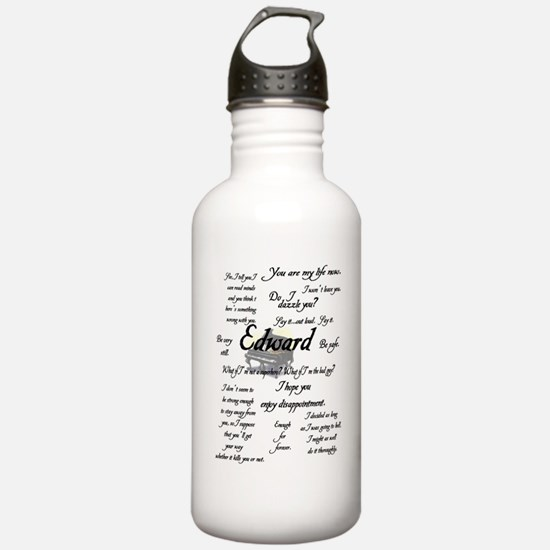 Edward Quotes Water Bottle