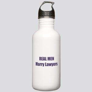 Real Men Marry Lawyers Stainless Water Bottle 1.0L