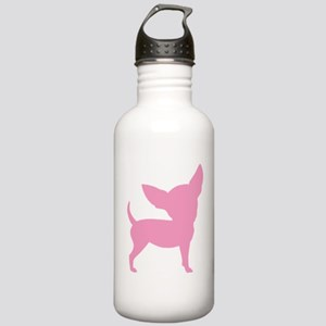 Pink Funny Cute Chihuahua Stainless Water Bottle 1
