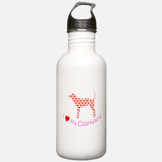 i heart my coonhound Water Bottle