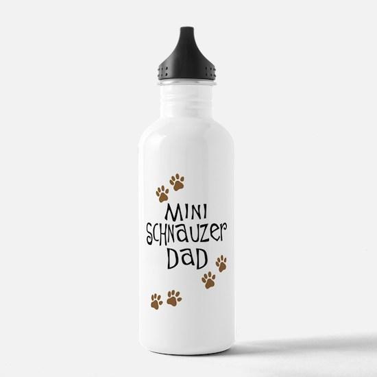 Mini Schnauzer Dad Water Bottle