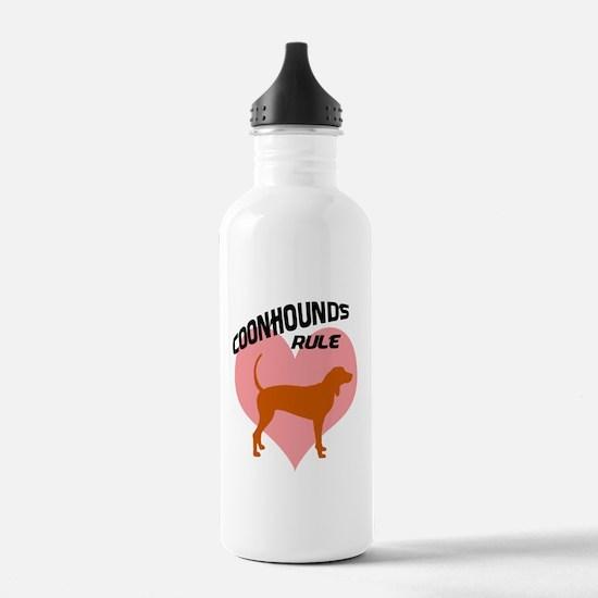 coonhounds rule w/ heart Water Bottle
