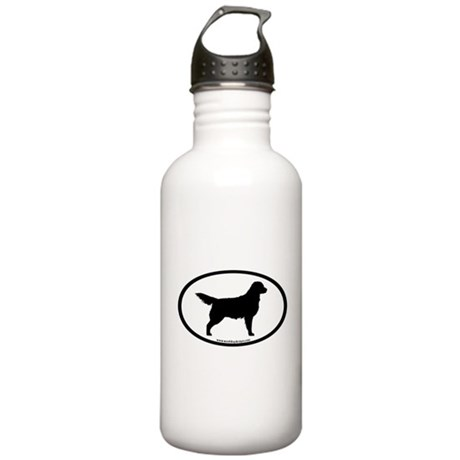 Golden Retriever Oval Stainless Water Bottle 1.0L