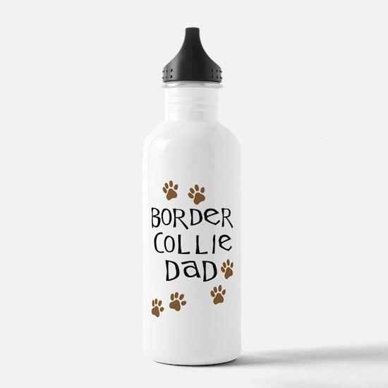 Border Collie Dad Water Bottle