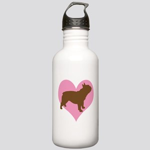 french bulldog & heart Stainless Water Bottle 1.0L