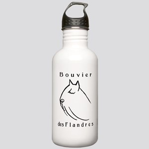 Bouvier Head Sketch w/ Text Stainless Water Bottle