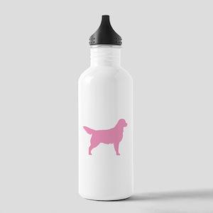 Pink Golden Retriever Stainless Water Bottle 1.0L
