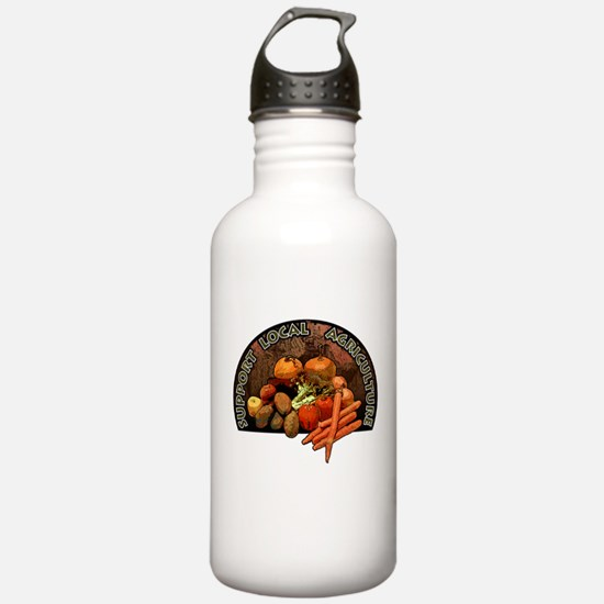 Support Local Agriculture Water Bottle