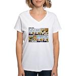 2L0050 - Drug runners vs... Women's V-Neck T-Shirt