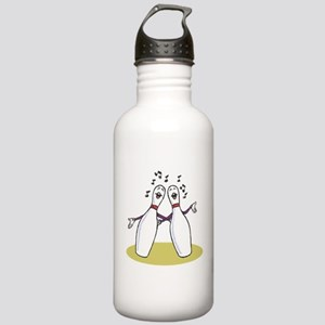 Singing Bowling Pins Stainless Water Bottle 1.0L
