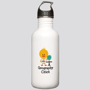 Geography Chick Stainless Water Bottle 1.0L