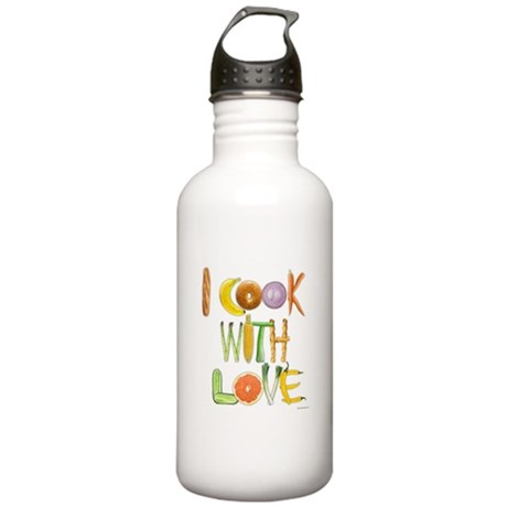 I Cook With Love Stainless Water Bottle 1.0L