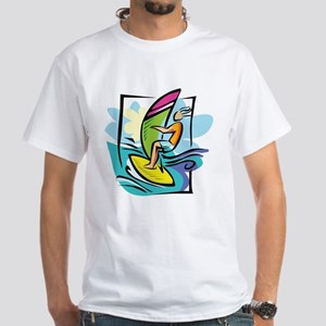 Windsurfing White T-Shirt