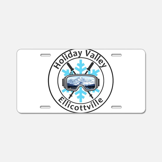Holiday Valley - Ellicott Aluminum License Plate