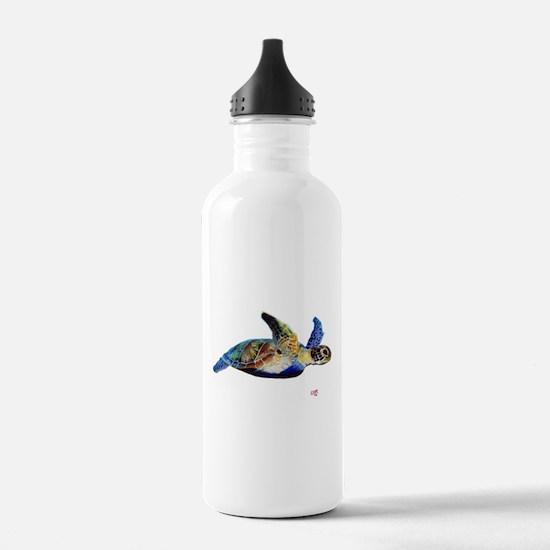 Funny Green art Water Bottle
