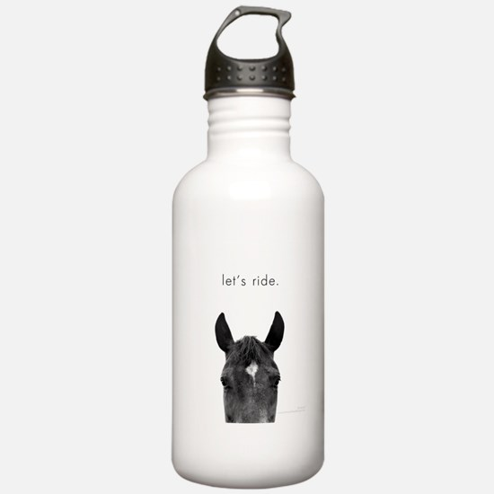 Let's Ride print by Ed Wood Sports Water Bottle