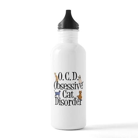 Obsessive Cat Disorder Stainless Water Bottle 1.0L