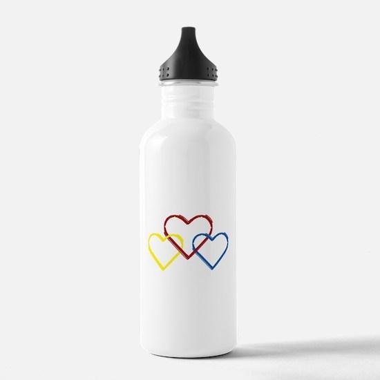 Heart Logo White Water Bottle