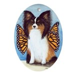 Butterfly Dog Oval Ornament