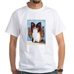 Butterfly Dog White T-Shirt