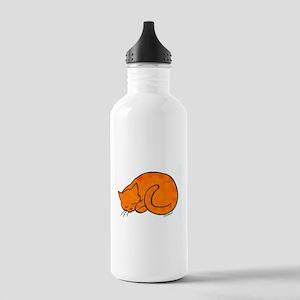 Orange Sleeping Cat Stainless Water Bottle 1.0L