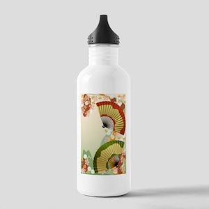 Japanese Fan green Stainless Water Bottle 1.0L