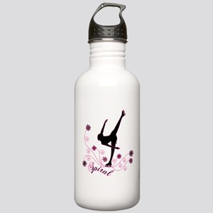 Ice Skating Spiral Stainless Water Bottle 1.0L