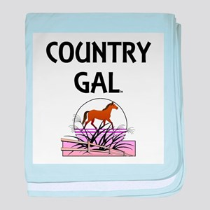 Country Gal baby blanket