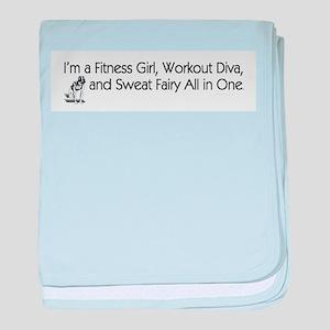 Workout Diva baby blanket
