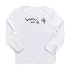 Workout Animal Long Sleeve Infant T-Shirt