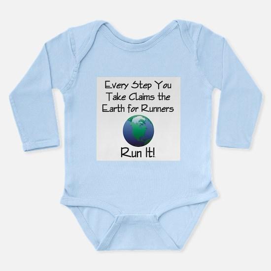 TOP Run Earth Long Sleeve Infant Bodysuit