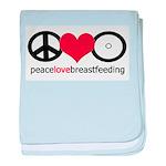 Peace, Love & Breastfeeding Infant Blanket