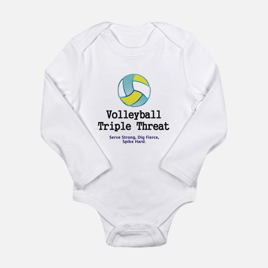 Volleyball Slogan Long Sleeve Infant Bodysuit