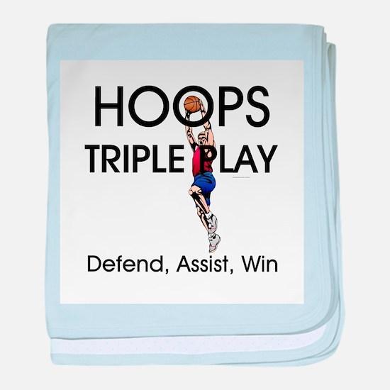 TOP Hoops Triple Play baby blanket