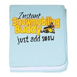 Instant Snowmobiling Buddy baby blanket
