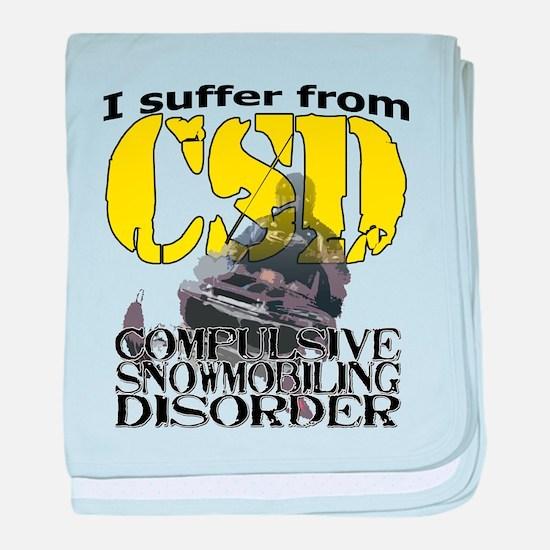 CSD Compulsive Snowmobile Disorder baby blanket