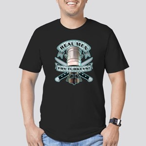 Real Men Fry Turkeys! Men's Fitted T-Shirt (dark)