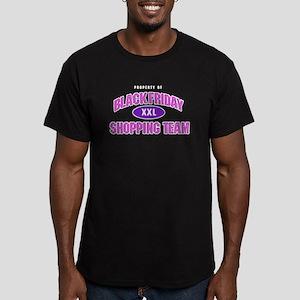 Black Friday Shopping Team Men's Fitted T-Shirt (d