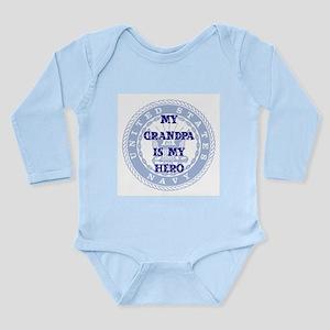 Grandpa Hero Long Sleeve Infant Bodysuit