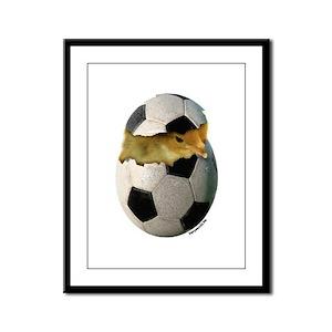 Soccer Chick Framed Panel Print