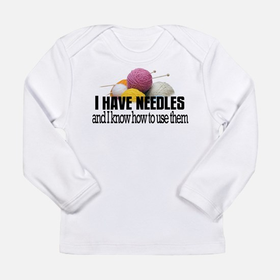 Knitting Needles Long Sleeve Infant T-Shirt