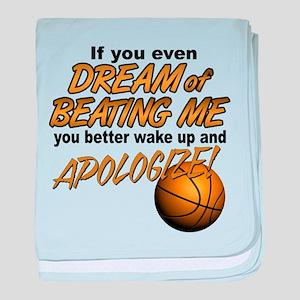 Basketball Dreaming baby blanket