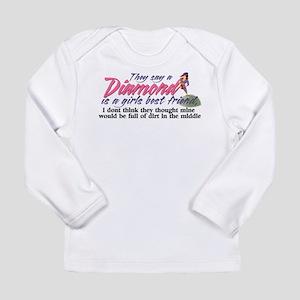 Diamonds are a girl's b Long Sleeve Infant T-Shirt